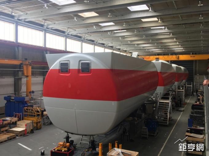 西門子歌美薩位於Brande生產風機機艙罩的工廠。(鉅亨網記者林薏茹攝)