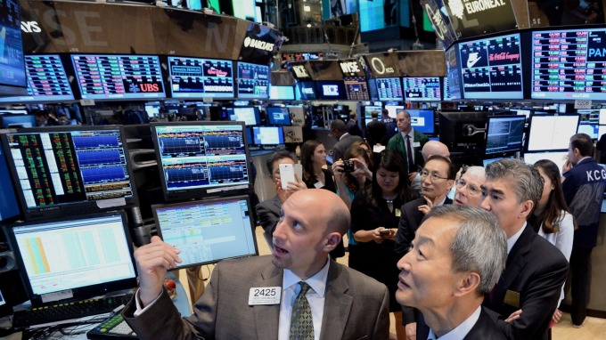 圖:AFP  高盛股價盤中上漲