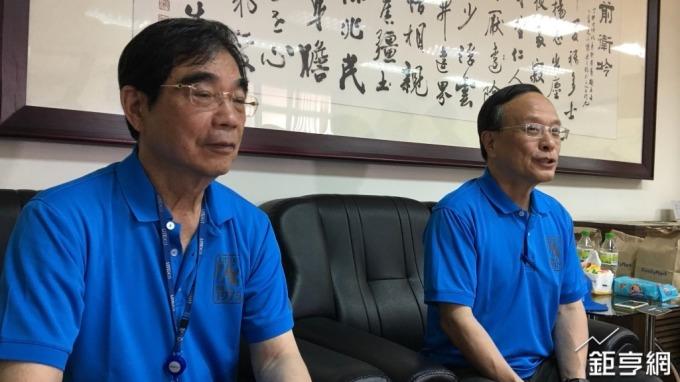 左起為光寶集團董事長宋恭源、副董事長暨總執行長陳廣中。(鉅亨網記者林薏茹攝)
