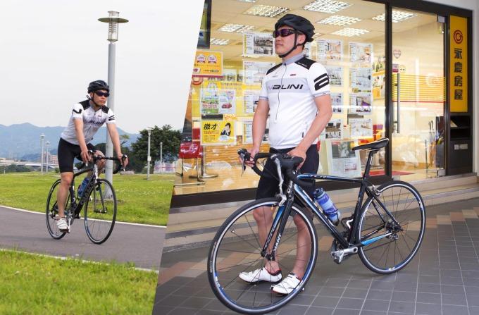 永慶房屋李俊龍善用「彈性工作8小時」,每天下班跑步、騎自行車健身,鍛鍊體能。