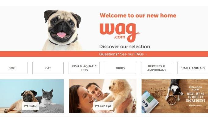 亞馬遜推出自有寵物品牌Wag      (圖取自官網)