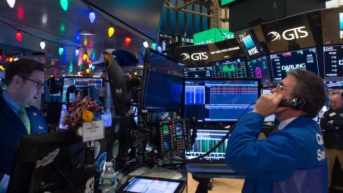 圖:AFP 美國股市週一收高 但縮小漲幅