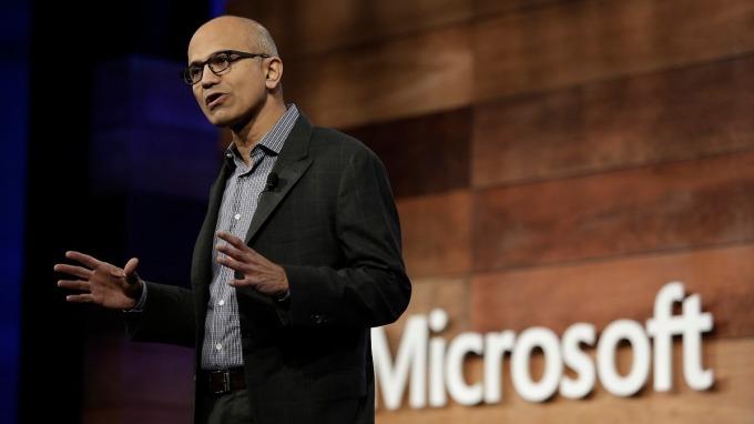 微軟執行長Satya Nadella。(圖:AFP)