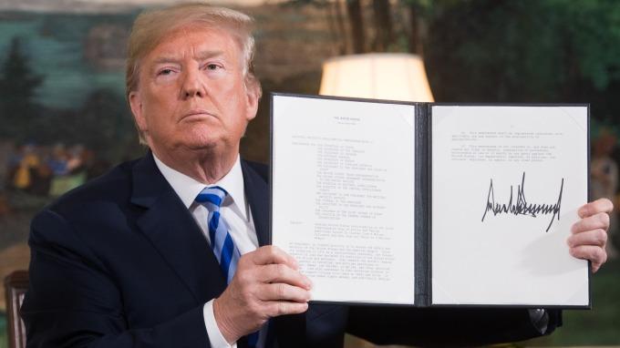 美國總統川普宣布,美國將退出伊朗核協議。(圖:AFP)