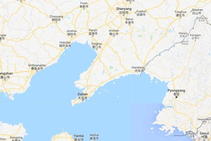丹東地理位置 / 圖:谷歌