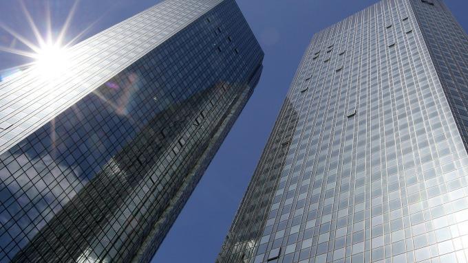 圖:AFP  德意志銀行大樓