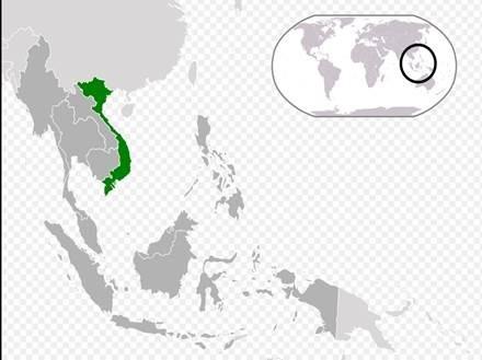 (圖三:以越南為中心的東協,維基百科)