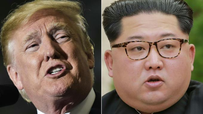 川普(左)與金正恩(圖:AFP)