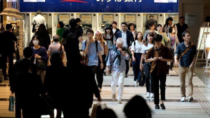 日本第一季經濟成長萎縮,終止兩年來的擴張      (圖:AFP)