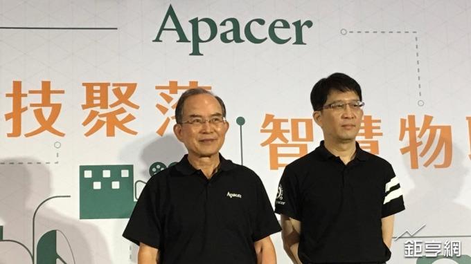 左起為宇瞻董事長陳益世、總經理張家騉。(鉅亨網記者林薏茹攝)