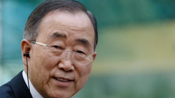 圖:AFP  前聯合國秘書長潘基文