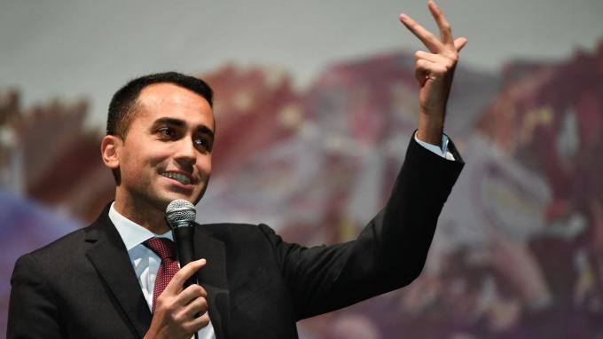 義大利五星黨黨魁Luigi Di Maio (圖:AFP)
