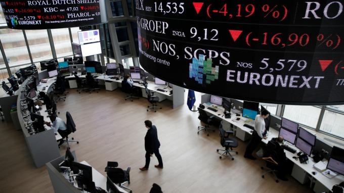 週四歐股盤前交易中,指數期貨走跌。(圖:AFP)