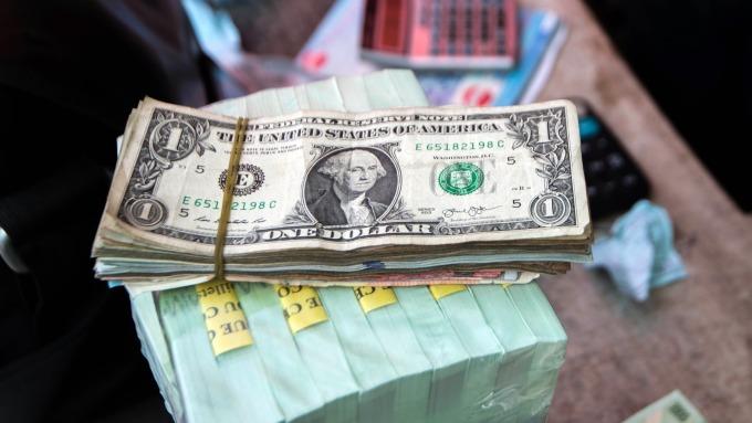 圖:AFP  美元週四進一步上漲