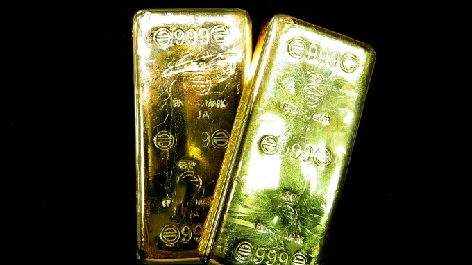 Fed紐約分行黃金庫存跌至冰點。(圖:AFP)