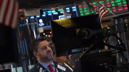 圖:AFP  美國股市週二下跌