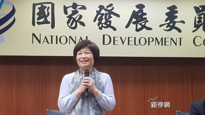 國發會指出根據IMD世界競爭力年報台灣排名全球第17名。圖為主委陳美伶。(鉅亨網資料照)