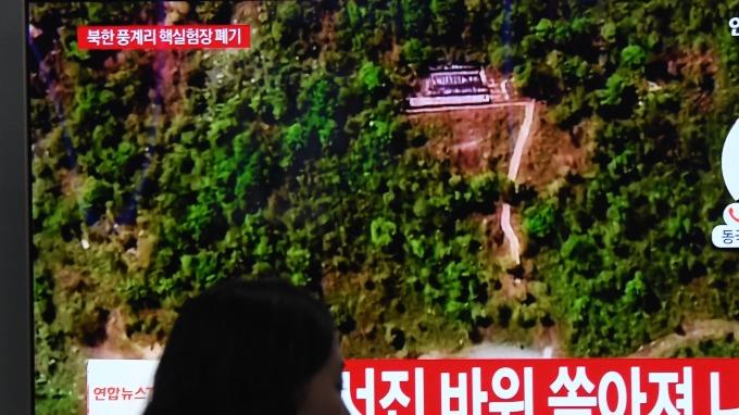 圖:AFP  北韓拆除核試場