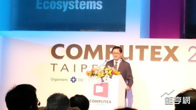 〈台北國際電腦展〉童子賢:科技新創時代來臨 台灣資訊產業舉足輕重