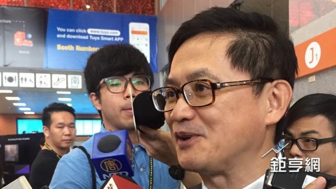 和碩董事長童子賢稱讚,台積電是真正的台灣之光。(鉅亨網記者黃雅娟攝)