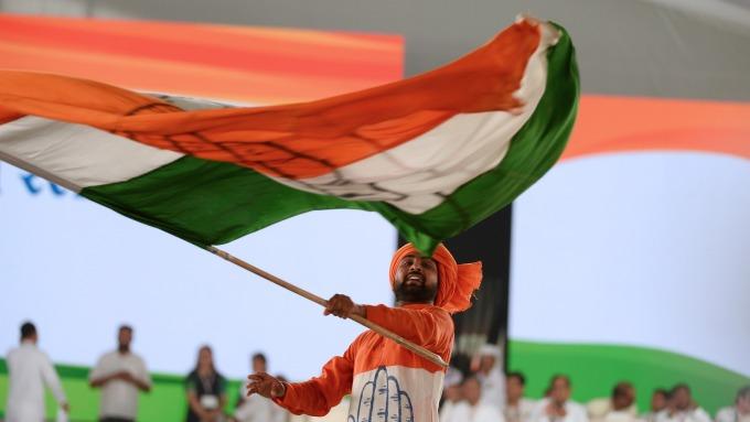 印度國旗(圖:AFP)