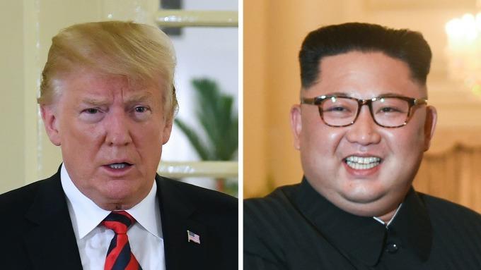 美國總統川普與北韓領導人金正恩(圖:AFP)