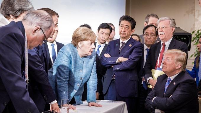 美國總統川普在G7與盟國鬧翻。(圖:AFP)