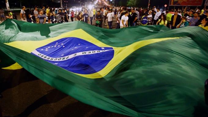巴西國旗(圖:AFP)