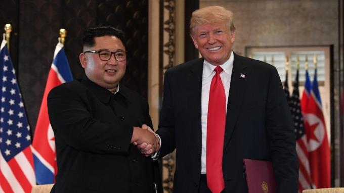 川普宣稱,北韓已不再構成核威脅。(圖:AFP)