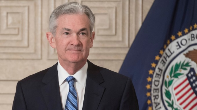 圖:AFP  美國Fed主席鮑爾