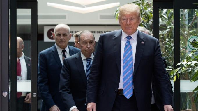 川普將與貿易顧問開會(圖:AFP)