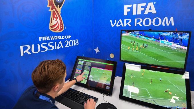 世界杯VAR辦公室(圖:AFP)