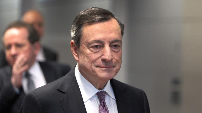 歐洲央行行長德拉吉。(圖:AFP)