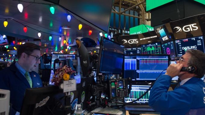 圖:AFP  美國股市週四收盤錯綜