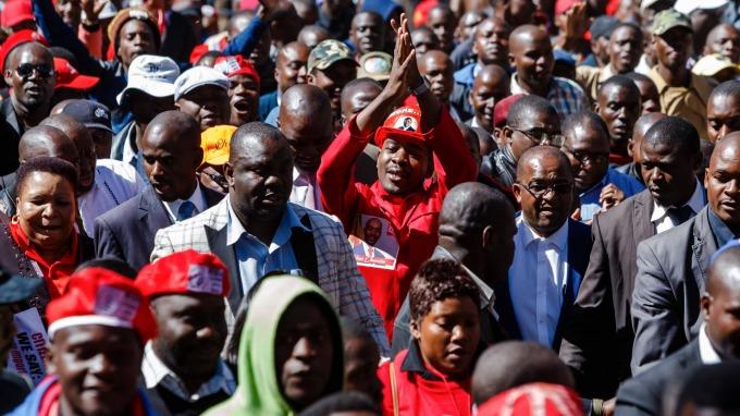 圖:AFP  辛巴威即將舉行總統大選 參選人爆炸