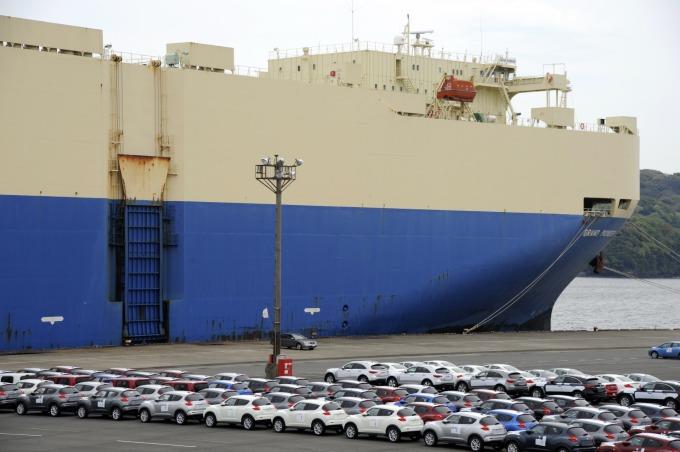 川普不滿日本進口美國汽車數量太少      (圖:AFP)