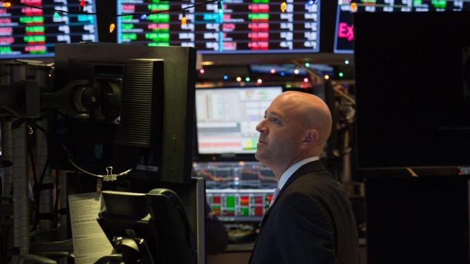圖:AFP  美國股市週二中場大跌