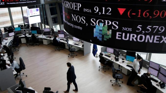 圖:AFP  國際貿易爭端氣氛改善 歐洲股市收高