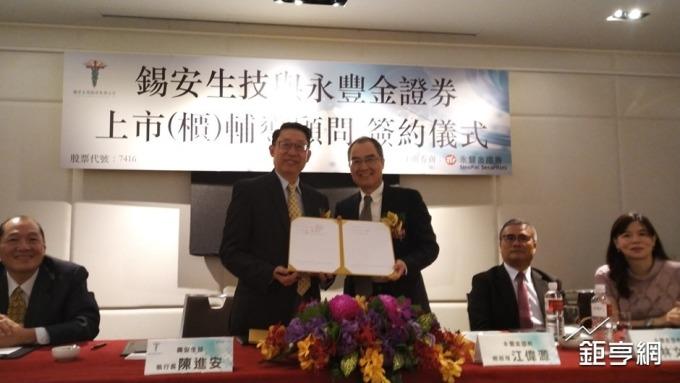 錫安生技啟動IPO 與永豐金簽訂輔導合約