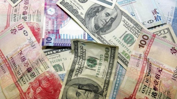 港幣兌美元今一度跌0.07%,至7.8475。 (圖:AFP)