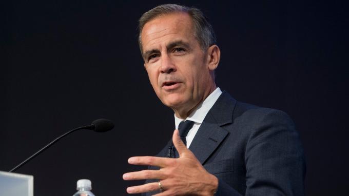 英國央行總裁卡尼。(圖:AFP)