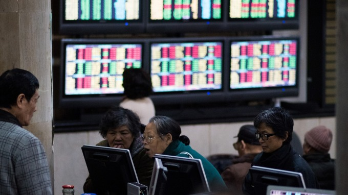 廣發證券戴康策略團隊指出A股目前處於底部區域(圖:AFP)