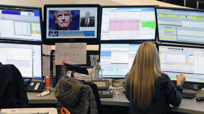 圖:AFP  歐洲股市週一收高