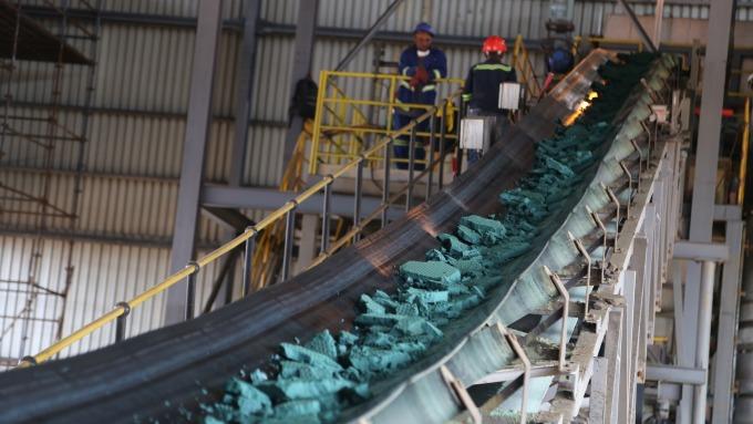 全球大多數鈷是開採其他金屬時的副產品 圖:AFP