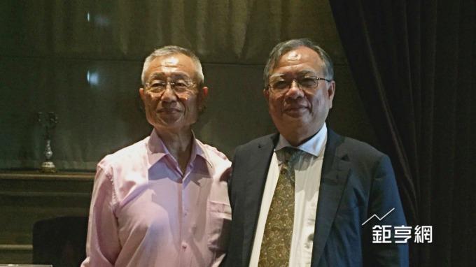 茂生農經董事長黃強(左)與總經理吳清德。(鉅亨網記者黃雅娟攝)