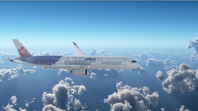 華航與空巴聯名彩繪機。(圖:華航提供)
