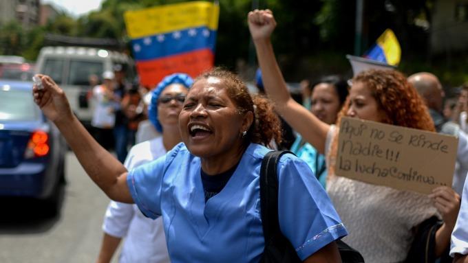 圖:AFP  委內瑞拉經濟陷入嚴重危機