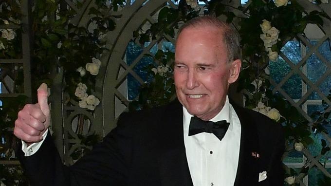 圖:AFP  川普總統的首席經濟顧問庫卓(Larry Kudlow)