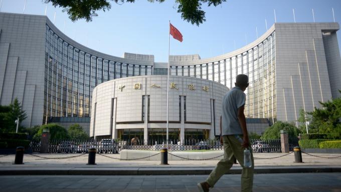中國銀行間短期拆借利率降至三年新低(圖:AFP)