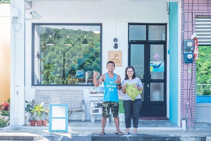 小琉球最幸福的就是海洋及海龜陪伴,藉由傳遞幸福激起大家環保意識!